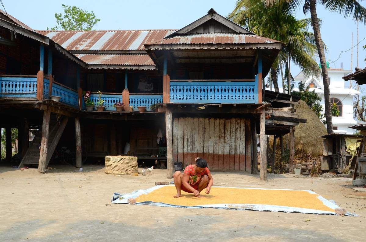 Nettoyage du riz