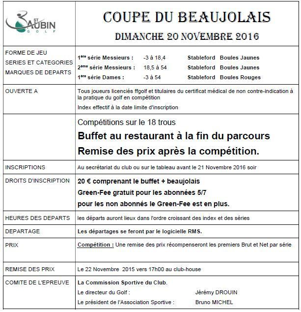 Coupe du Beaujolais 2016 .......