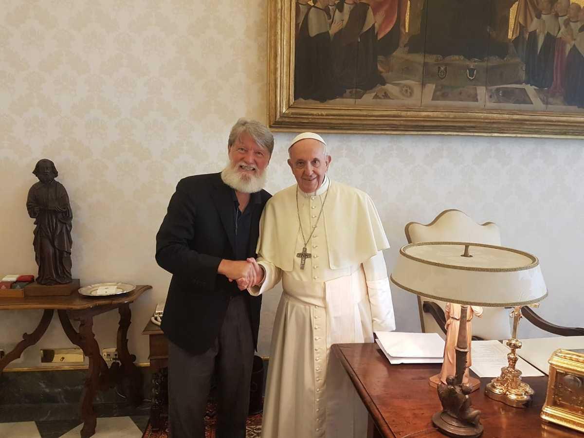 Le père Pedro a été reçu par le pape François le lundi 28 et mercredi 30 mai 2018 (reproduction de la photo interdite sans autorisation)