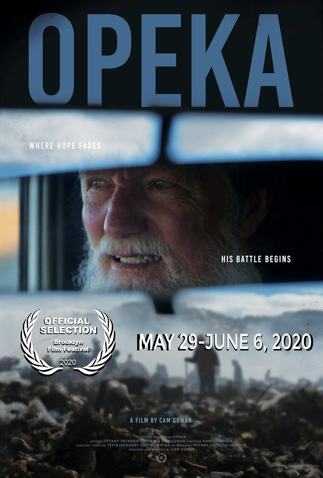 L'affiche du film de Cam Cowan sur le père Pedro sélectionné au Brooklyn Film Festival 2020