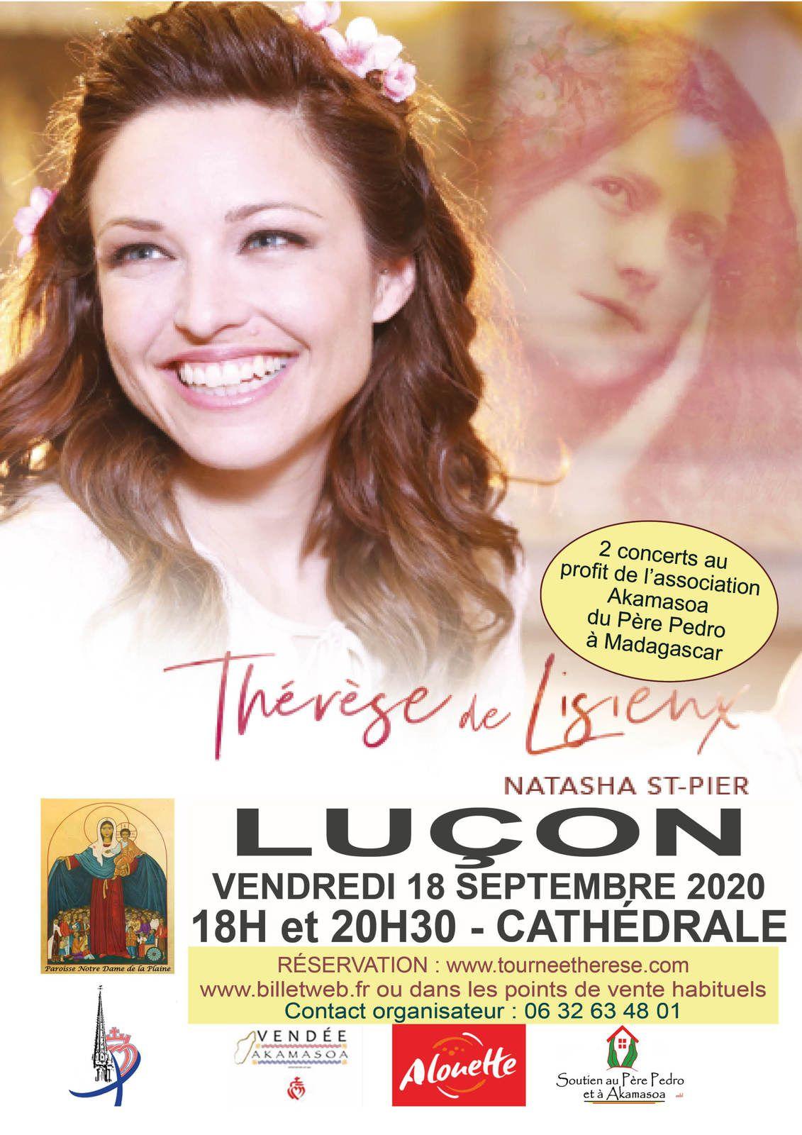 Concert de Natasha St-Pier au profit du père Pedro, en Vendée, le 18 septembre 2020 : il reste des places encore disponibles