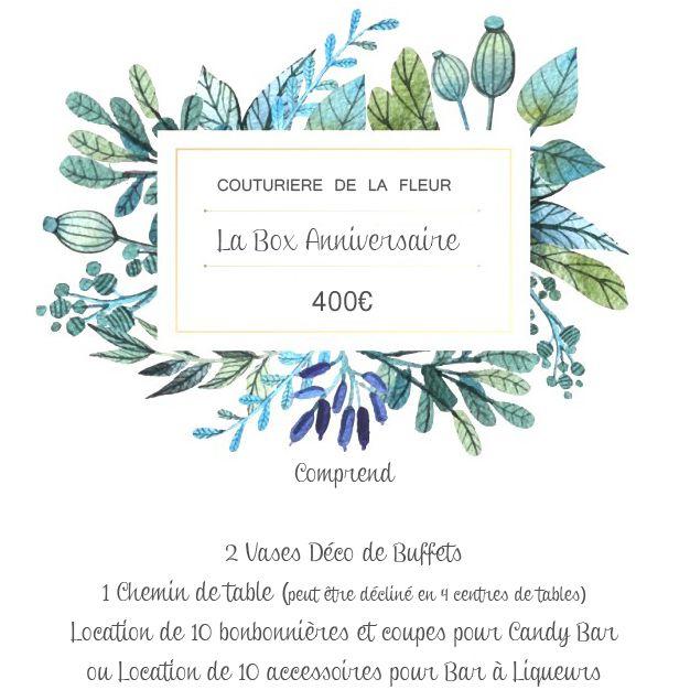La BOX Mariage et les BOX's florales by Couturière de la Fleur