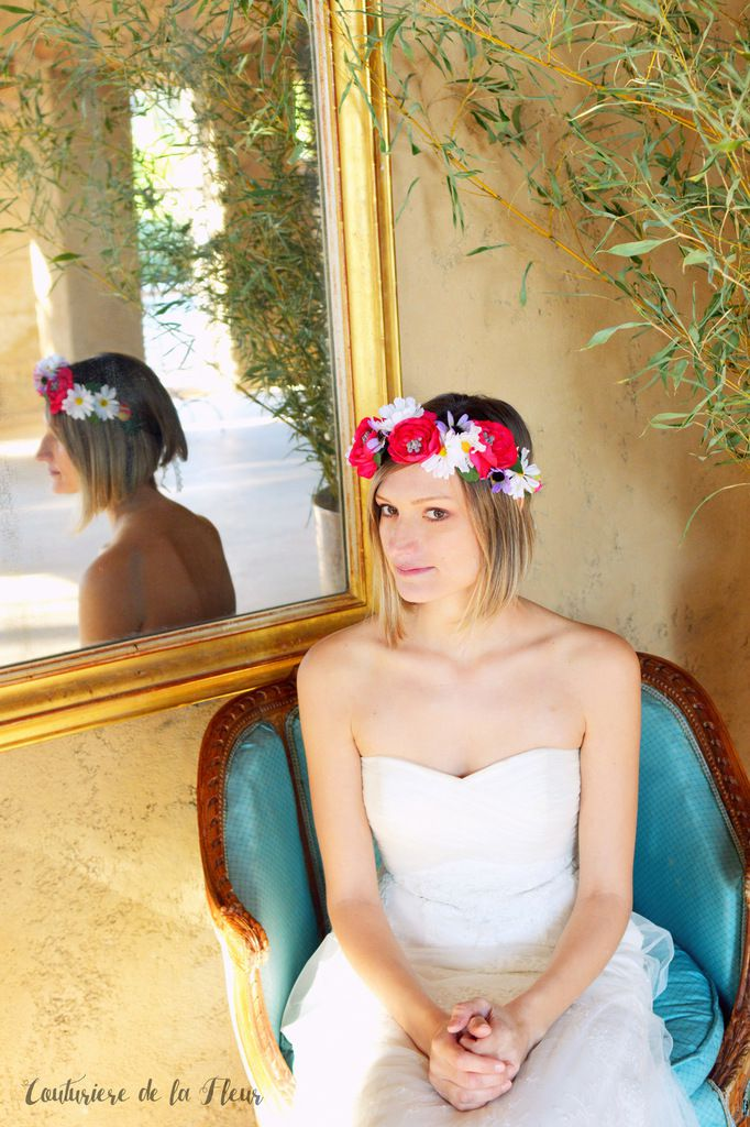 Mes couronnes de fleurs au Château de Roquelune [Shooting Mariage]