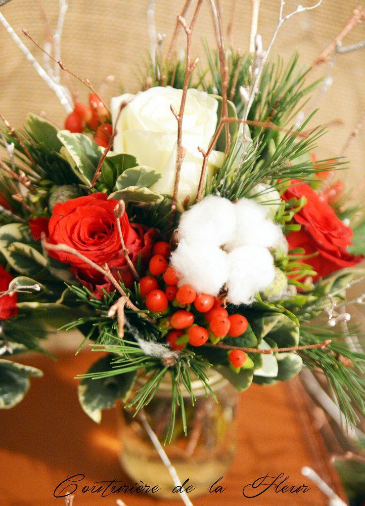 Bar à Fleurs pour un mariage à Noël - Mariage en hiver
