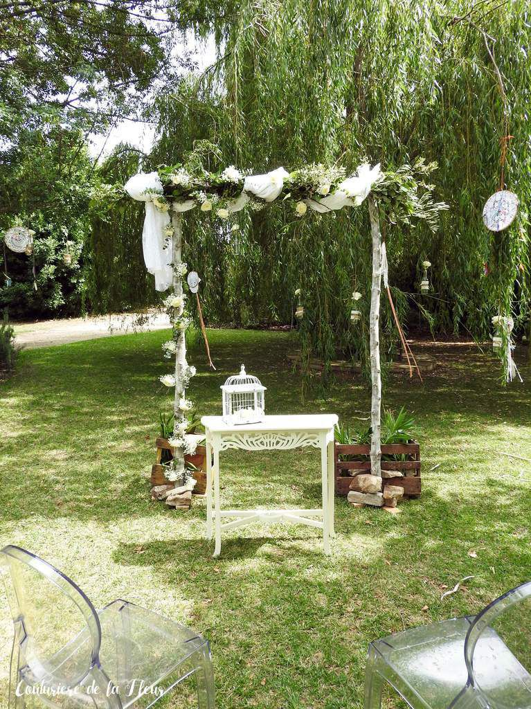 Arche de mariage en bois yk55 humatraffin for Decoration ceremonie