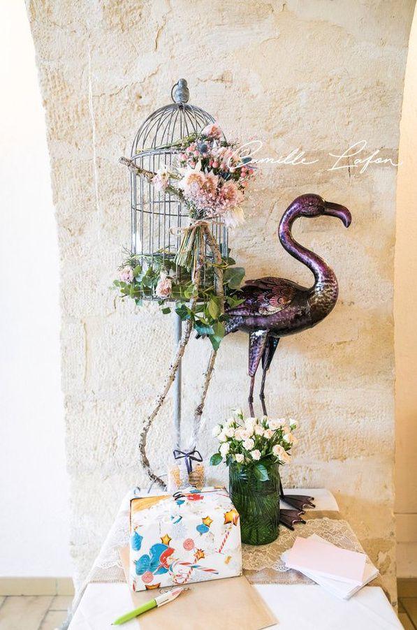 Mariage Flamingo au Domaine de l'Argentière