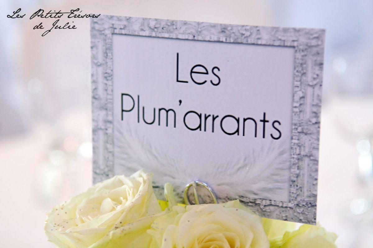 Relative Les Petits Trésors de Julie - Papeterie Mariage - Noms de tables  HC04