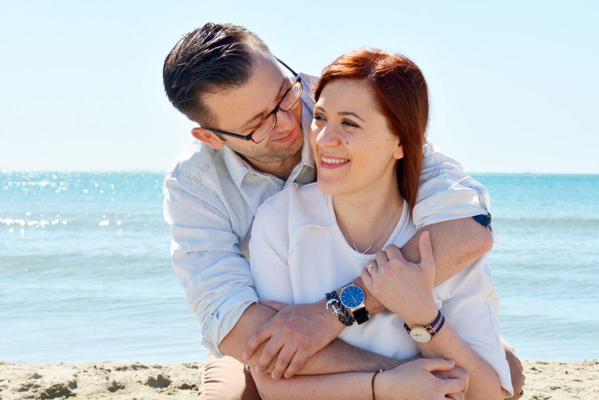 Séance Engagement à la plage | Cyrielle & Romain | Montpellier