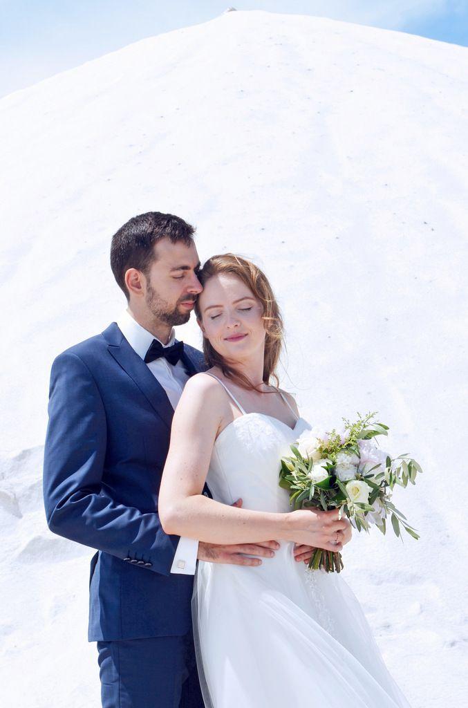 Mariage romantique à Aigues Mortes et ses superbes Salins
