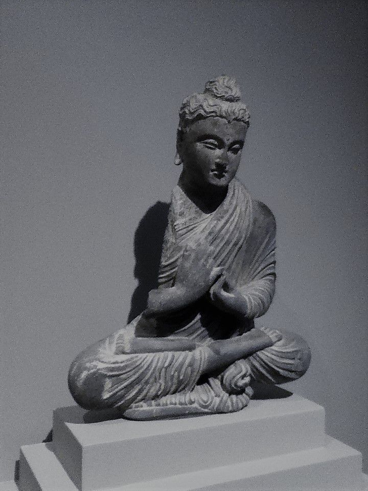 Seated Buddha (Gandhara region, 2nd-3rd century A.D., Gray schist)