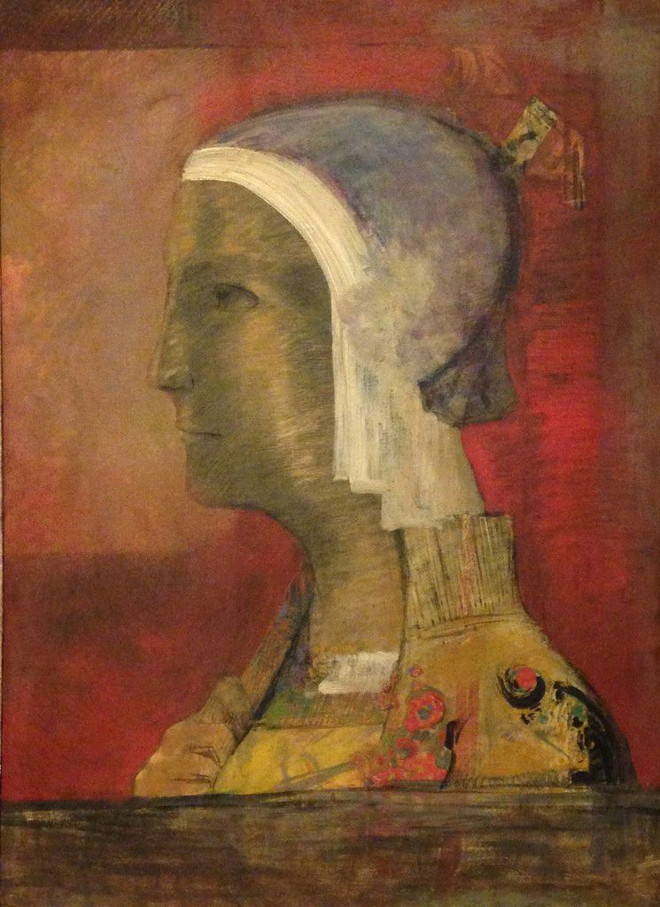 Symbolic Head, Odilon Redon, Cleveland Museum of Art