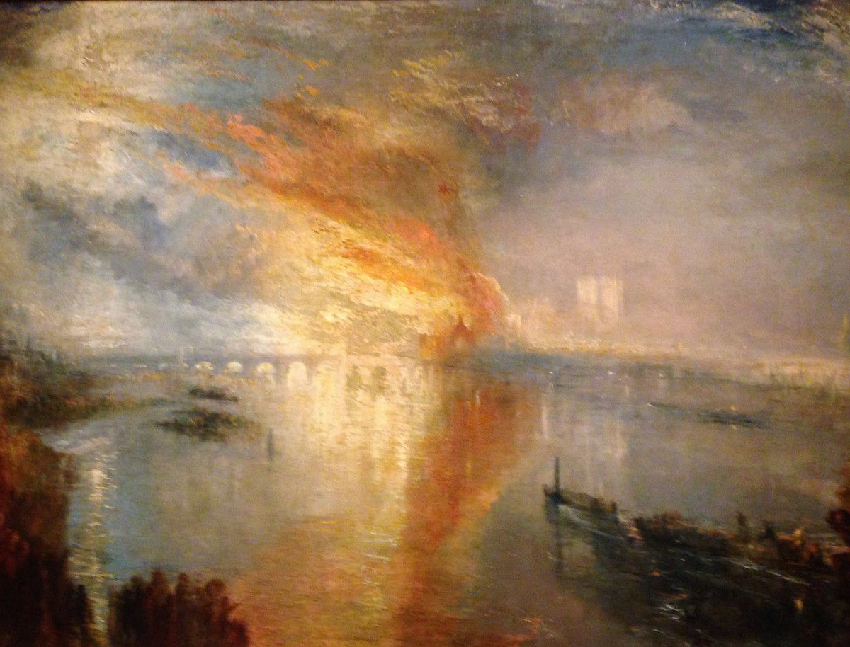 The Burning of the Houses of Lords and Commons, Turner, Cleveland Museum of Art