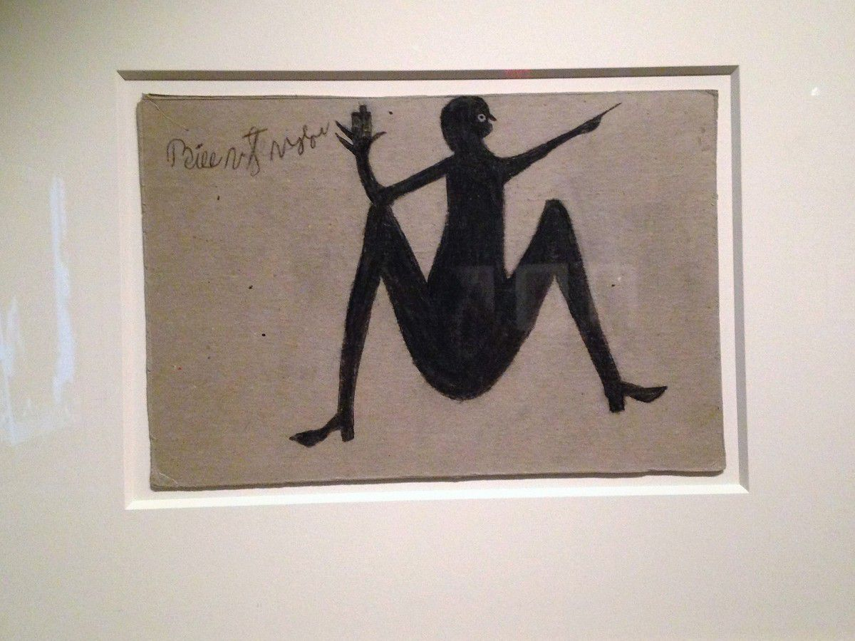 Bill Traylor, Spread-Legged Drinker, American Art Museum, Washington