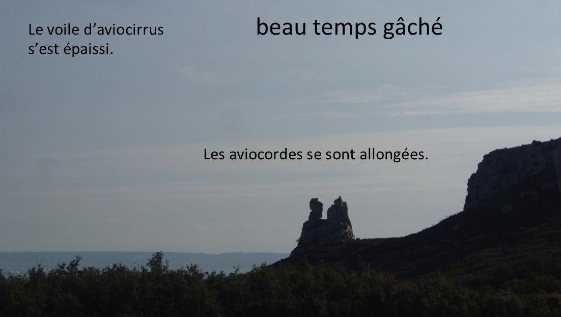 Provence 19 mars 2016 - « Au fil des heures un voile de nuages d'altitude envahit le ciel, mais l'impression de beau temps perdure. Le mercure se montre généreux avec nous l'après-midi. », Météo France pour le quotidien La Provence.