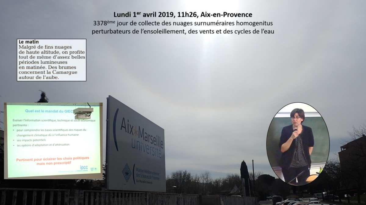 Valérie Masson-Delmotte, Co-présidente du GIEC, membre du Haut conseil pour le climat, à Aix-en-Provence le 1er avril 2019, à la recherche d'ambassadeurs et ambassadrices du dernier rapport du GIEC.