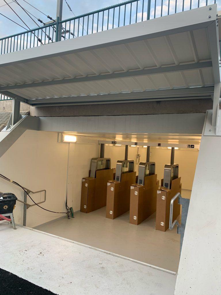 Gare de Poissy, sortie quai 1 opérationnelle en mars 2020
