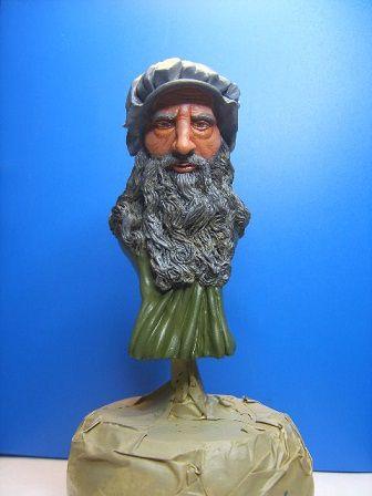 BUSTE de LEONARD DE VINCI sculpté par JEAN - CLAUDE BESENYEI