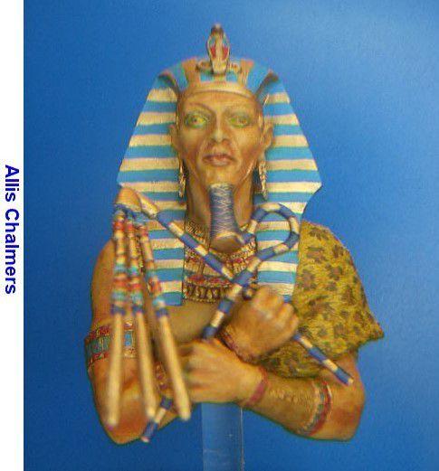 ALEXANDROS MODELS AKHENATON PHARAON D'EGYPTE - BUSTE 200MM -