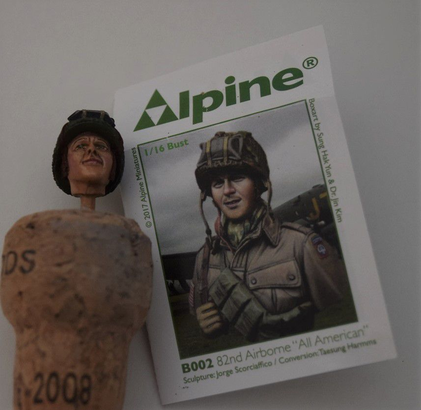 "US Army 82 Airborne """" All american "" - buste 1/16 de chez ALPINE"