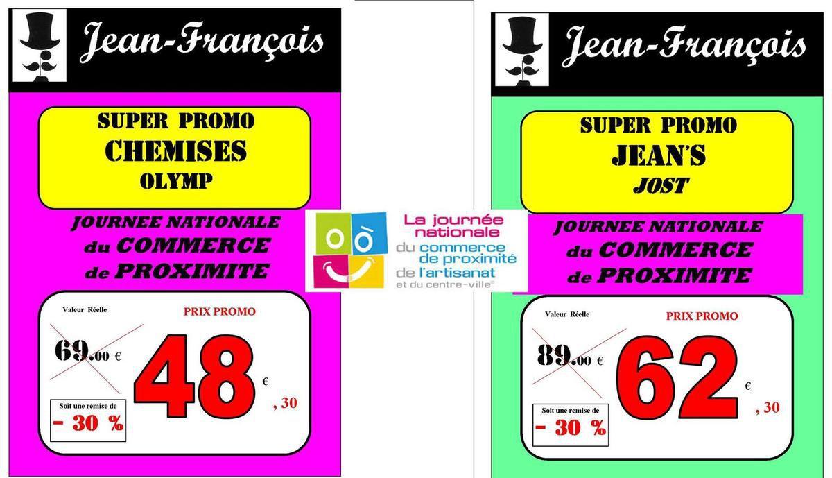 Samedi 8 octobre chez Jean-François : Promos, cadeaux...