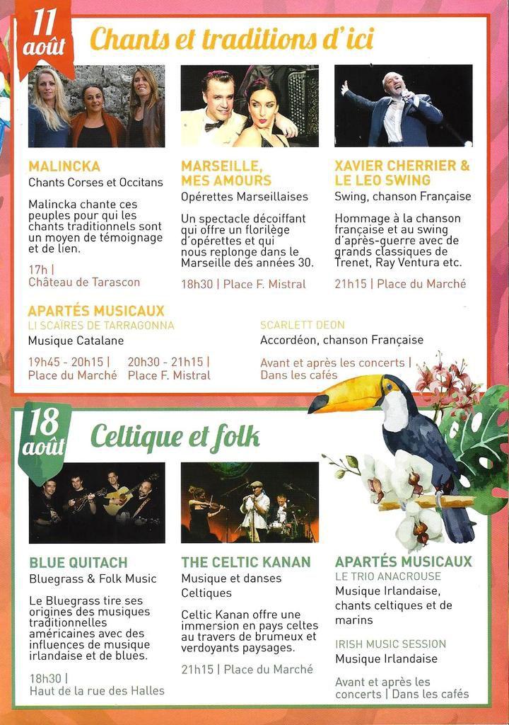 11 août : Chants & traditions d'ici / 18 août : Celtique & folk