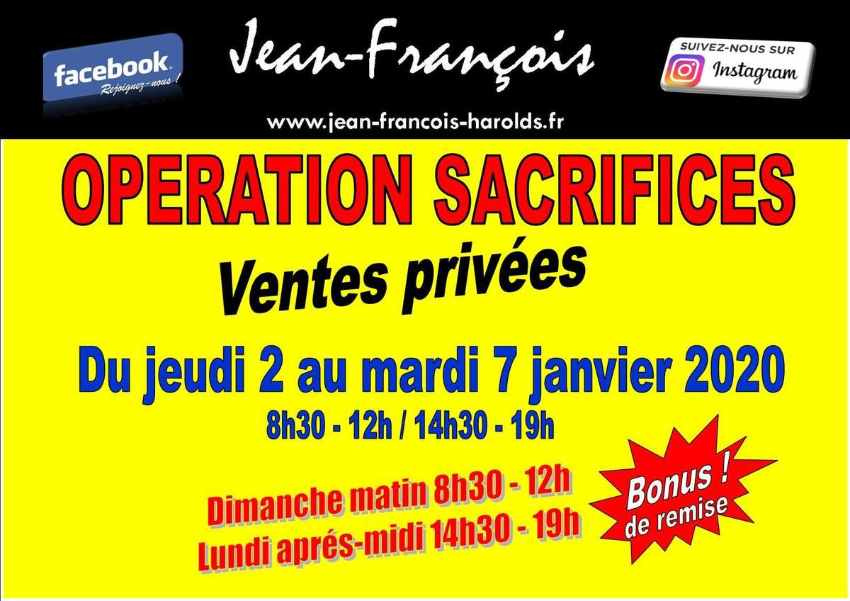 OPERATION SACRIFICES à la boutique Jean-François