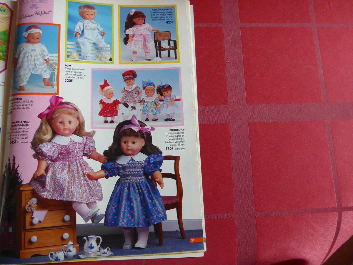 Poupée Corolle : chez jouéclub, combien coûtait une poupée Corolle en 1992 ?