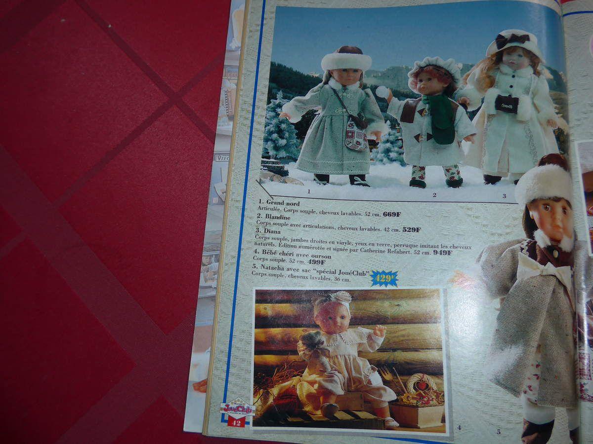 Poupée Corolle : le prix d'une poupée Corolle en 1996 - catalogue Noël 1996