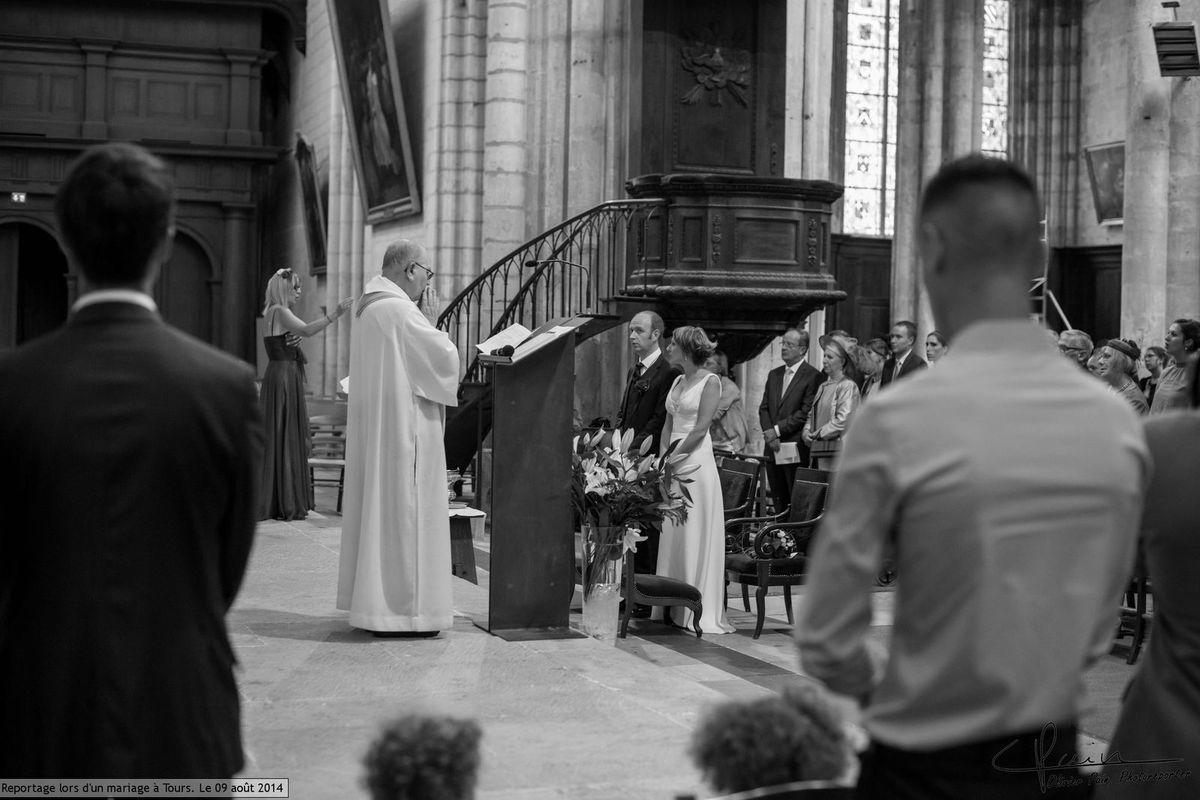 Reportage lors d'un mariage à la cathédrale de Tours