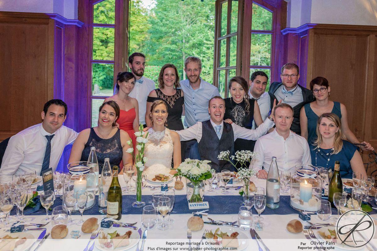 Photographies des tables pleines lors d'un reportage mariage