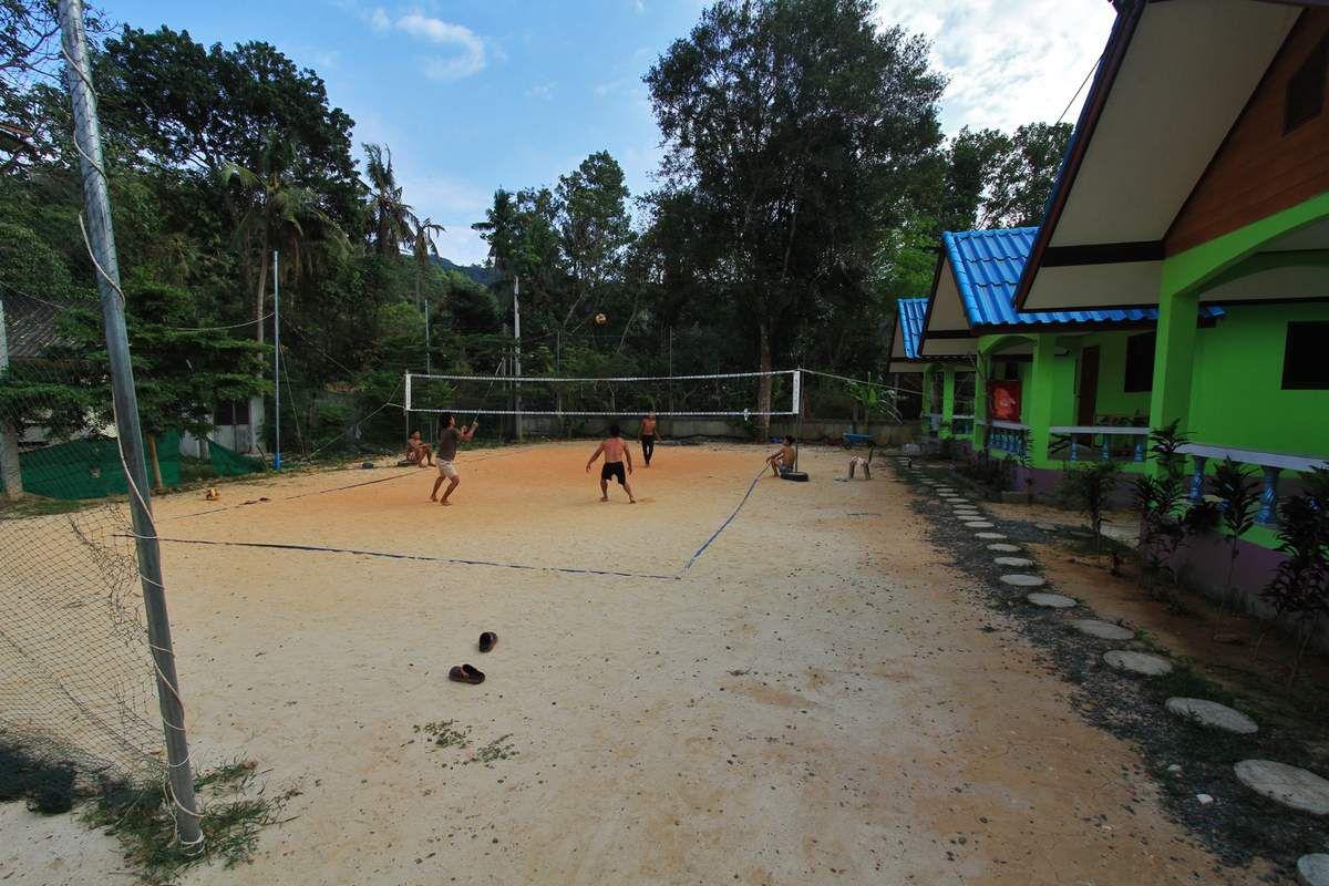 Le campus en cette fin d'année 2017, joueurs et visiteurs s'y côtoient au quotidien