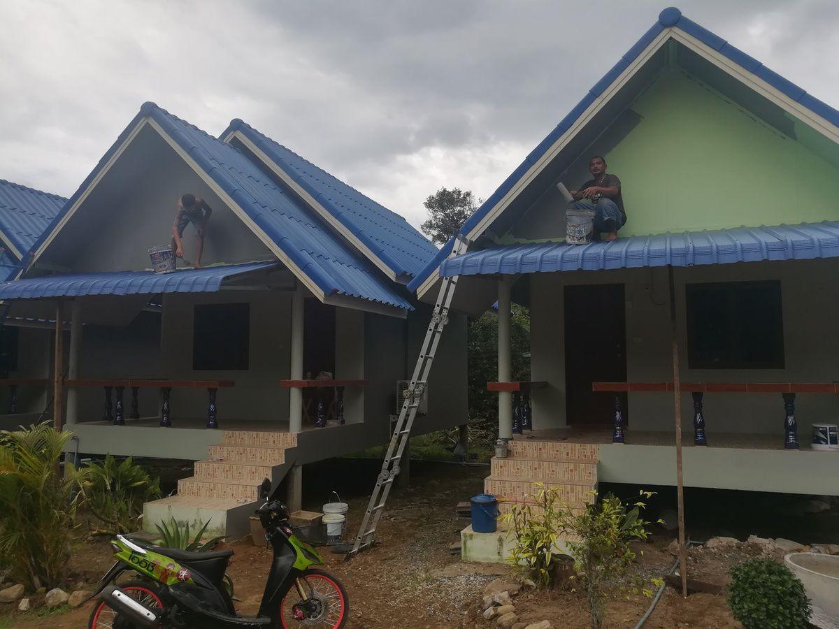 le site en travaux, aménagement extérieur, peinture et jardinage etc etc