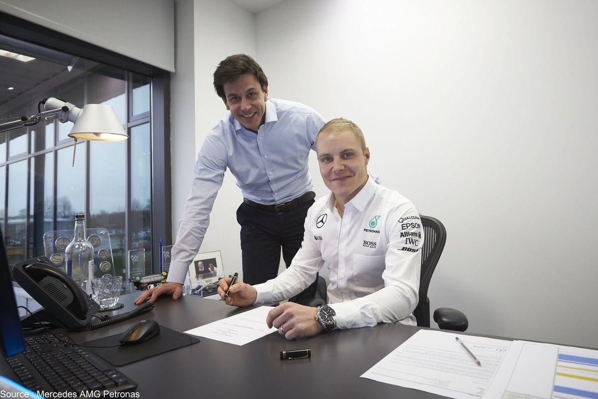Valtteri Bottas a signé son nouveau contrat