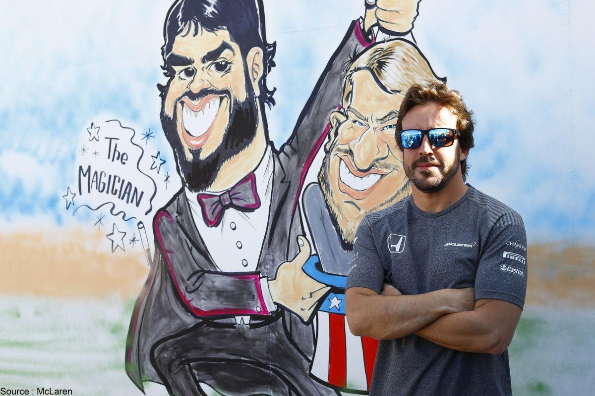 Fernando Alonso tentait un tour de magie dont il a le secret