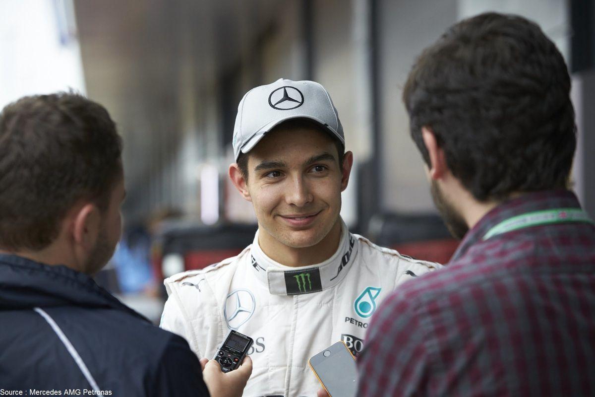 Esteban Ocon a déjà porté les couleurs de Mercedes en 2016