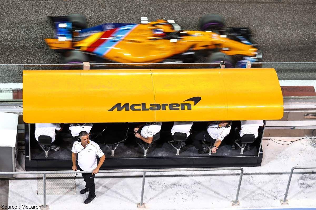 Encore des changements sur le muret des stands de McLaren