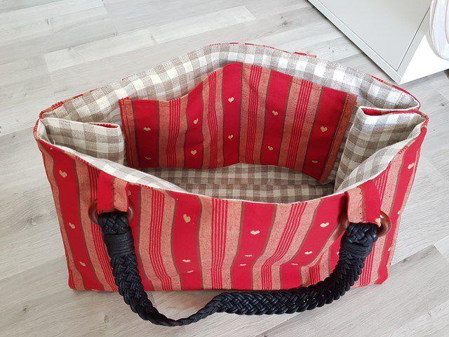 Couture : Un joli sac cabas rouge