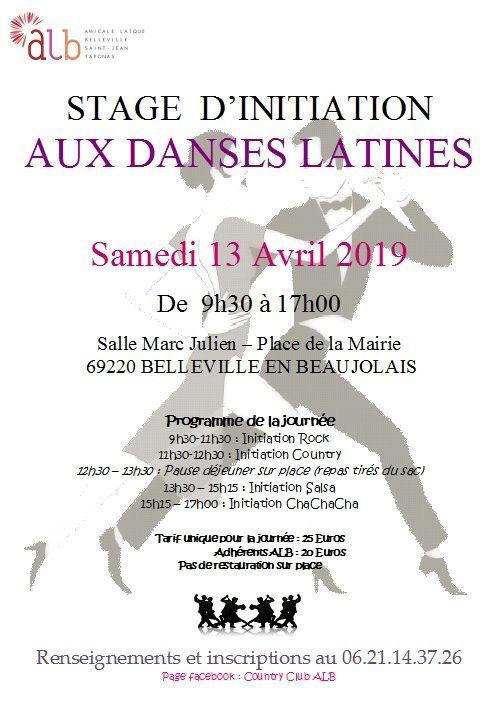Stage d'initiations au danses latines