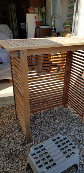 Restauration d'un meuble en teck