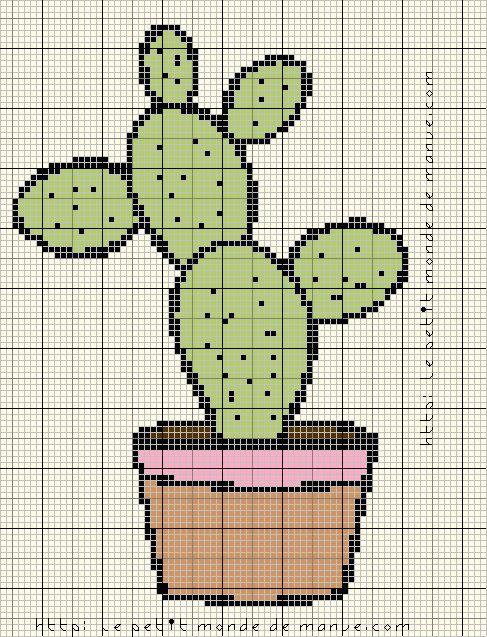 Grilles gratuites : Joli cactus
