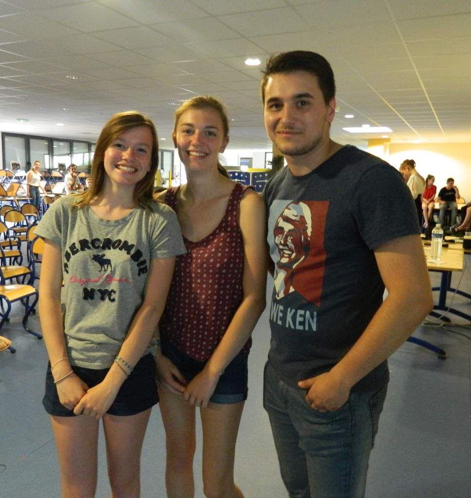 Camille, Mathilde et Baptiste: 3 générations d'une même famille à l'AEC. Des fidèles!