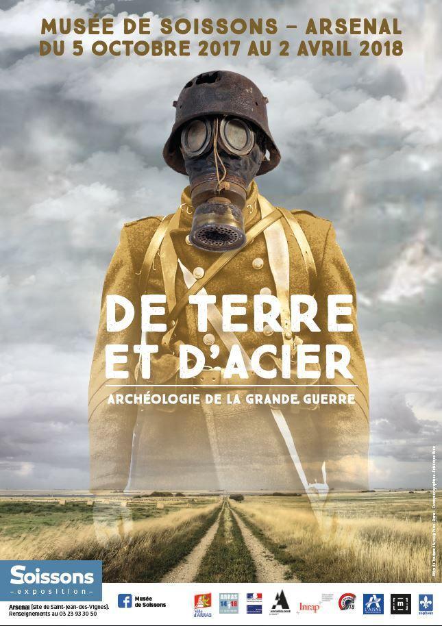 """""""DE TERRE ET D'ACIER"""" : Une expo sur l'archéologie de la Grande Guerre à Soissons"""