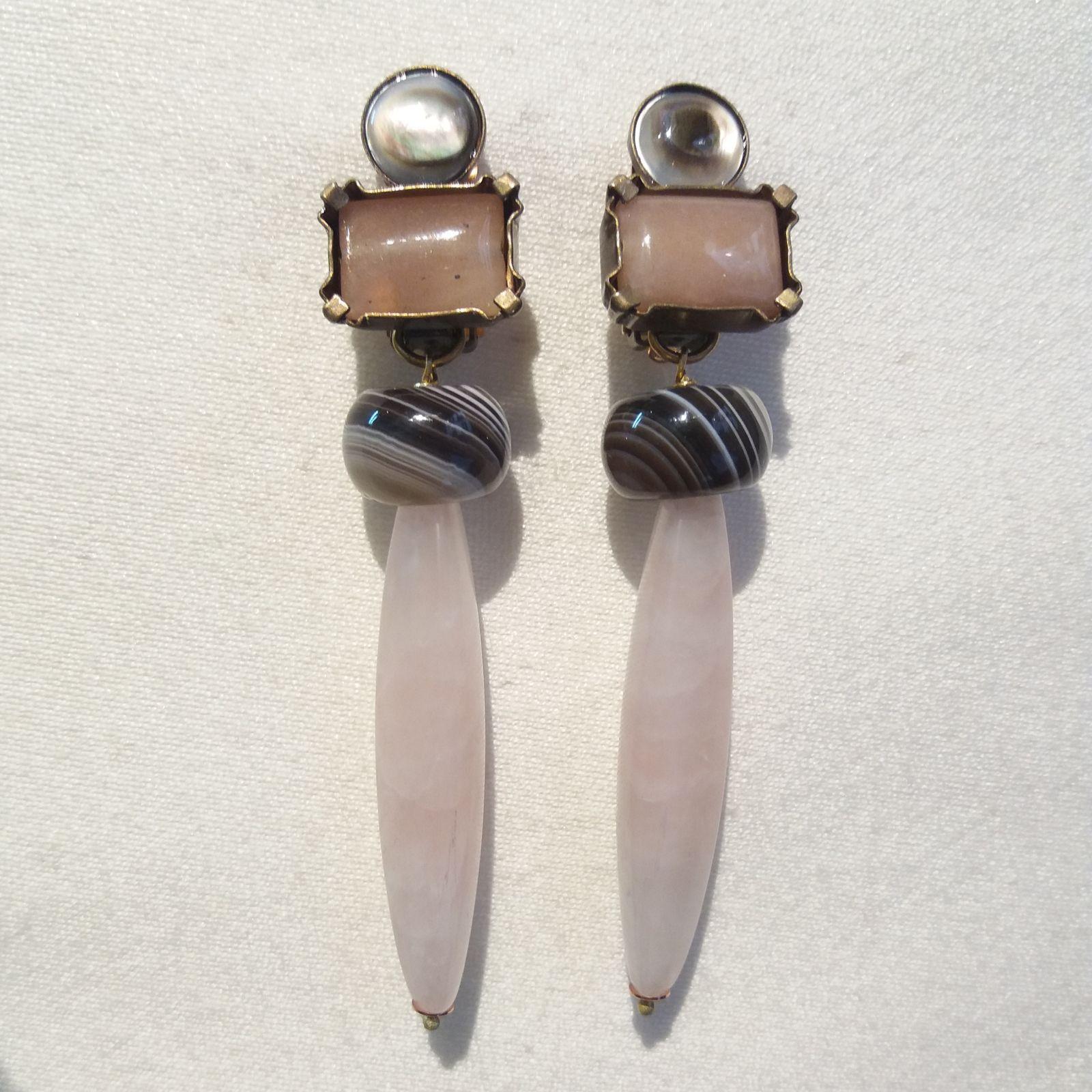 Boucles d'oreilles clips bijoux de créateurs Paris