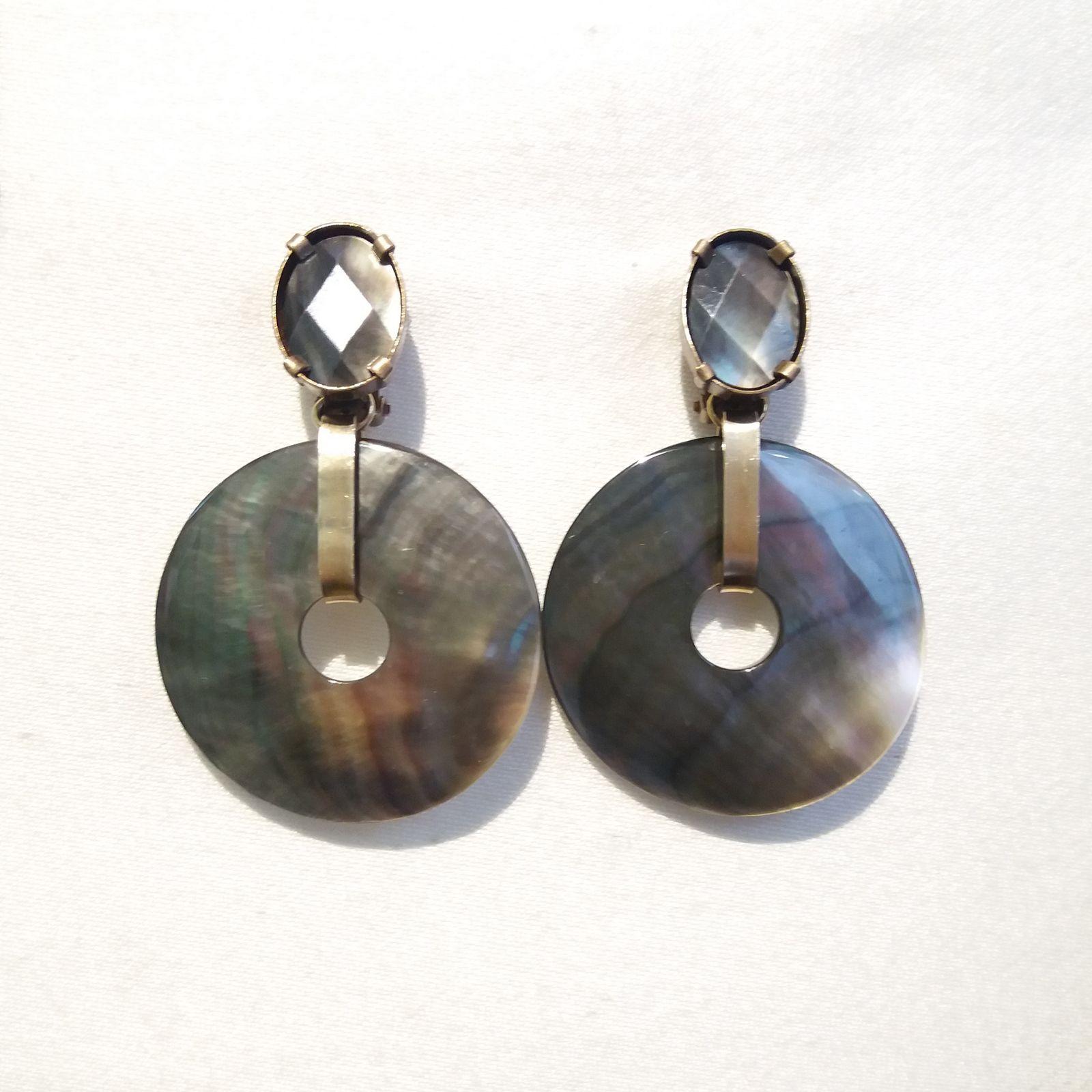 Boucles d'oreilles clips bijoux de créateur Paris