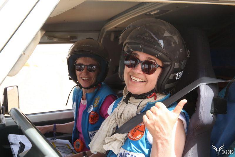 équipage 138 Cecilia et Nathalie, rallye des gazelles 2019, fin du rallye