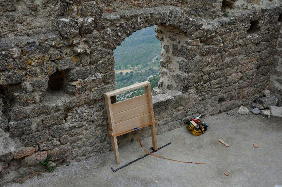 Une vue d'en haut dans le château