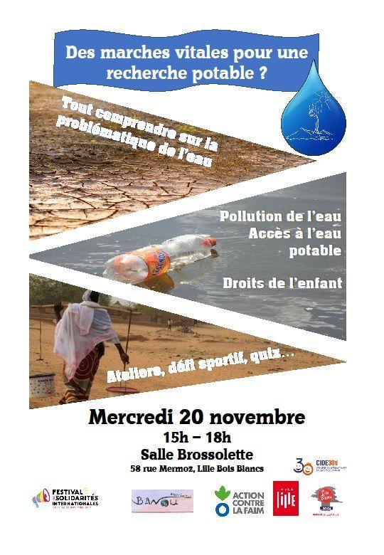 Mercredi 20 novembre 15h Festival des solidarités Ville de Lille: Des marches vitales pour une recherche potable à Lille Bois Blancs
