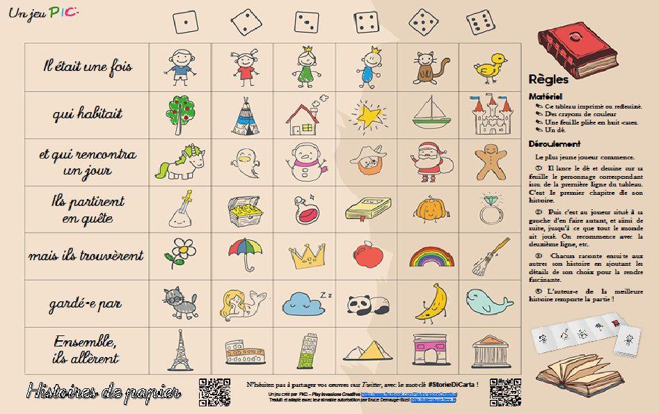 Le jeu familial , un papier, quelques crayons et un dé... Même les plus petits peuvent jouer ! Storie di carta et Monster's roulette