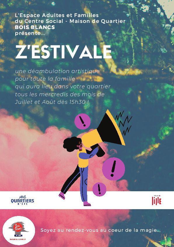 Z'estivale c'est tous les mercredis à Lille Bois Blancs depuis le 8 juillet 2020