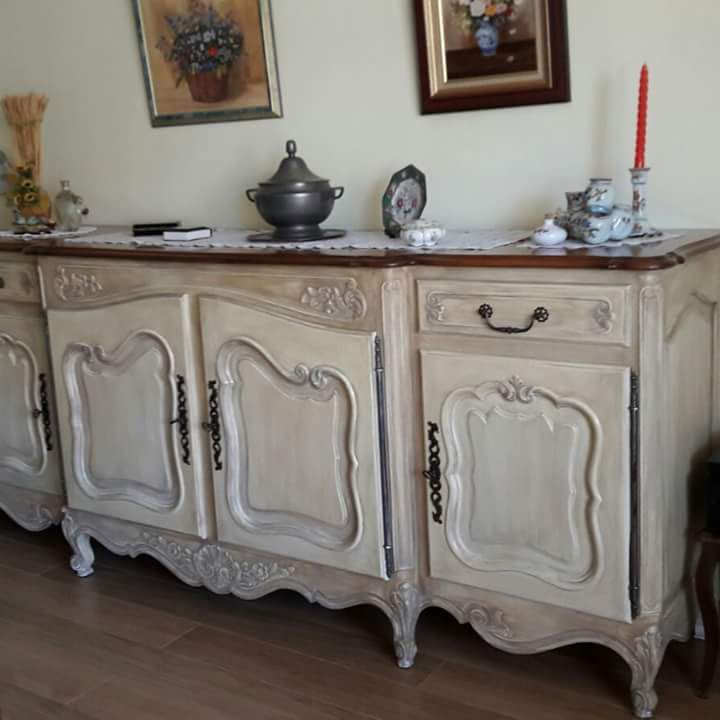 salle manger louis xv provenale patine shabby chic ombre